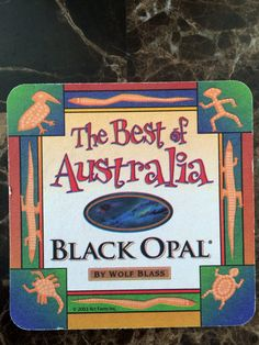 Black Opal Wine by Wolf Blass Coaster From Outback Steakhouse