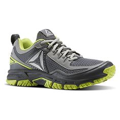 Reebok Mens Ridgerider Trail 20 Running Shoe AlloyFlat GreyKiwi GreenPewter  11 M US ***