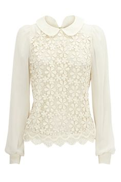 love this - lace long sleeve with that pretty collar