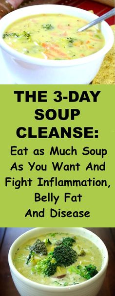 The Soup Cleanse: Eat as Much Soup as You Want And Fight Inflammation, Belly Fat And Disease - Suppe Rezepte Soup Cleanse, Detox Soup, Cleanse Recipes, Soup Recipes, Cooking Recipes, Cleanse Diet, Diet Detox, Stomach Cleanse, Recipies