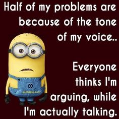 28 Minion Quotes with Your Favorite Little Guys   #minionquotes #minionpics #minionfun #minionpictures #funnyminion Funny Minion Memes, Minions Quotes, Funny Jokes, Minion Humor, Funny Texts, Minion Pictures, Funny Pictures, 365 Jar, Mean Humor