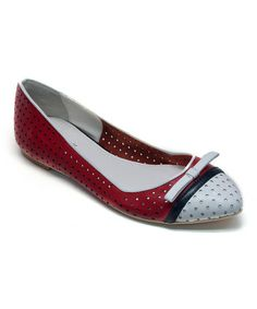 Take a look at this Navy & Red Opal Flat by OBSESSION RULES on #zulily today!