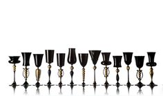 black and gold goblets by vetro vero seen at Dwell on Design 2012
