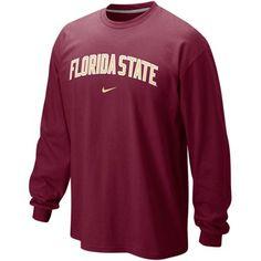 online store 1e891 92062 Nike Florida State Seminoles (FSU) Classic Arch Long Sleeve T-Shirt - Garnet