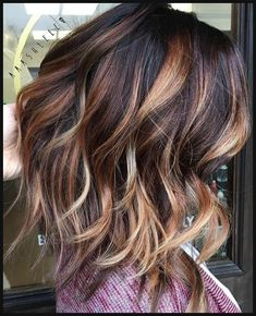 Hair Color Trends 2017/ 2018 - Highlights : Dark brown with caramel ... | Einfache Frisuren