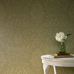 Montague Green Wallpaper - Modern Wall Coverings by Graham Brown