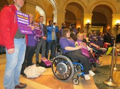 A proposal cut $150 million in state health and human services spending has Minnesotans with disabilities and their advocacy groups converging on the state capitol. Protests erupted after legislators returned from the Easter/Passover break April 2.