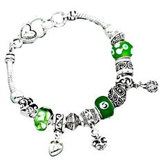 Small Heart Charm Bracelet Z7 Green Murano Glass Beads Clear Crystal Silver Tone recyclebabe http://www.amazon.com/dp/B00S8TBOZK/ref=cm_sw_r_pi_dp_PQbUub109WQ90