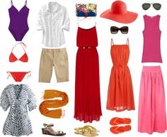 """Beach Vacation Wardrobe"" by wardrobeoxygen ❤ liked on Polyvore"