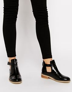 ASOS+ARKIN+Cut+Out+Leather+Ankle+Boots