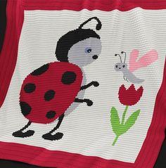 Crochet Pattern | Baby Blanket / Afghan - Ladybug