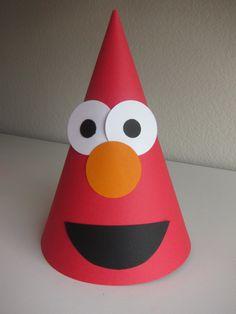 Elmo Birthday Party Hats Sesame Street by BirthdayWishesAlways, $25.00
