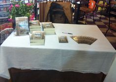 Book signing Sept 2013 Never Leave Me, Christian Girls, Book Signing, Good People, Author, Table Decorations, Writers, Dinner Table Decorations
