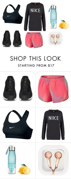"""go for a run"" by daliataptiklis on Polyvore featuring moda, NIKE y claire's"