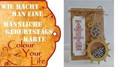 Männliche Geburtstagskarte mit Schrauben als Schüttelkarte   Deutsch