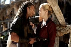 BLACK SAILS Captain Vane and Elenore Guthrie...they were once lovers and it seems they might be once again lovers...time will tell