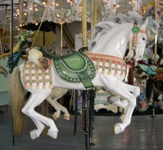 Carousel Horse ~ It is totally like the work of LLADRO!! [The Crescent Park Carousel Crescent Park Looff Carousel Building]