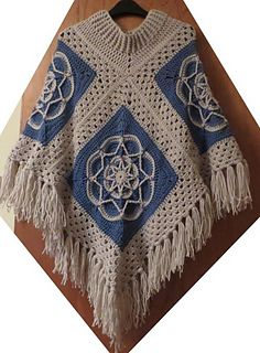 The 4 Square Poncho is exactly what it says a Poncho made up of 4 squares! free pattern on Ravelry