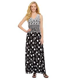 Ruby Rd. Varied Dot Border-Print Venezia Maxi Dress | Dillard's Mobile