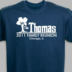 Family Reunion Personalized T-shirts