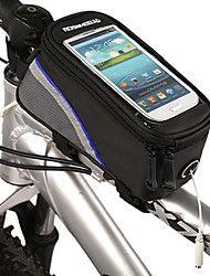 nueva bolsa frontal de diseño 4.2 pulgadas de la bicicleta con la pantalla del teléfono móvil táctil pvc transparente