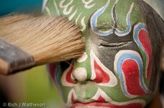 Taiwan Face Painting  This series of photographs was taken at the Eighth Akau Mazu's Cup Divine Guardian and Sacred Officer Competition in Pingtung, Taiwan. All photos are of Yiming Hui's (義民會) GuanJiang Shou (官將首) Troupe.  http://thetaiwanphotographer.com/projects/face-painting/