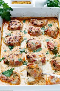 Pork fillet with bacon in curry cream - . - Pork fillet with bacon in curry cream – www.emmikochteinf … Informations About Schweinefilet mit - Pork Recipes, Chicken Recipes, Cooking Recipes, Cooking Pork, Fast Recipes, Shrimp Recipes, Potato Recipes, Summer Recipes, Healthy Eating Tips
