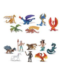 Mythical Realms & Lair of the Dragons Toob Figurine Set