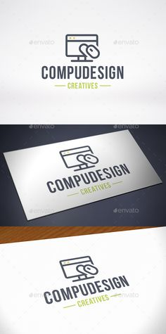 Computer Design Logo Template — Vector EPS #website #programmers • Available here → https://graphicriver.net/item/computer-design-logo-template/10204786?ref=pxcr