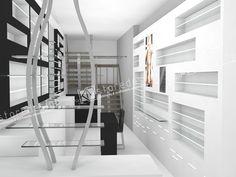 Η KM store designαναλαμβάνει το σχεδιασμό και την επίπλωση κάθε είδους καταστήματος οπτικών. Ο σχεδιασμός του εξοπλισμού των οπτικών καταστημάτων θέλει ιδιαίτερη προσοχή αλλά και φντασία ώστε να δημιουργείται κάτι ξεχωριστό αλλά και εργονομικό με σωστή προβολή των γυαλιών και χωροθέτηση των κατηγοριών των προιόντων του καταστήματος. Stairs, Home Decor, Stairway, Staircases, Interior Design, Ladders, Home Interior Design, Ladder, Home Decoration