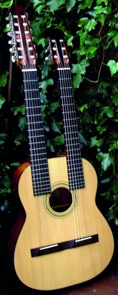 Hand made and unique. Crafted for Paul Brett by master luthier John le Voi. 6 and 12 string nylon strung necks made in El Rock And Roll, 12 String Guitar, Guitar Neck, Guitar Collection, Acoustic Guitars, Vintage Guitars, Double Trouble, Musical Instruments, Musicals