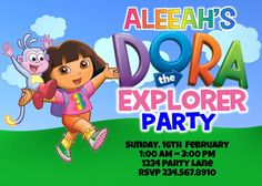 Big List Of Dora Birthday party game ideas to help make your little explorer's party perfect!