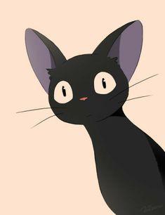 how to draw a zentangle Studio Ghibli Art, Studio Ghibli Movies, Animes Wallpapers, Cute Wallpapers, Personajes Studio Ghibli, Kiki Delivery, Kiki's Delivery Service Cat, Cat Drawing, Anime Scenery