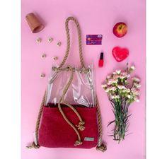 Bucket bagrope shoulder bag backpack bucket bagfelt by YPSILONBAGS