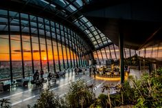London Adventures- Sky Garden bar and restaurant - level 37, 20 Fenchurch Street London EC3M 3BY