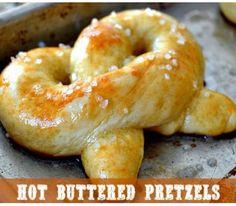 Hot Buttered Fluffy Pretzels  #Food #Drink #Trusper #Tip