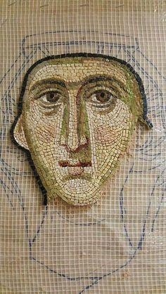 Medieval Home Decor, Mosaic Portrait, Creativity Exercises, Charcoal Sketch, Mosaic Artwork, Arabic Calligraphy Art, Mosaic Crafts, Orthodox Icons, Sacred Art