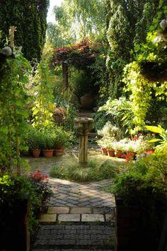 Niet dat zuiltje, maar de anti-symmetrie en hoe de hoge bomen en struiken voor privacy en een knusse tuin zorgen.