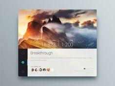 Widget designed by Akira Rivz. Connect with them on Dribbble; Ui Design, Touch, App, Digital, Stuff Stuff, Apps, User Interface Design