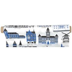 The trendy Mitt Skåne fabric is designed by Emelie Ek for the Swedish brand Klippans Yllefabrik. The fabric is made of high quality cotton and has a lovely pattern with well-known buildings and houses from the area Skåne in Sweden. Use the fabric as curtain or maybe as a fine table cloth