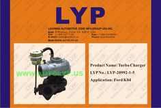 LYP-20992-1-5TURBO CHARGER/TURBOCOMPRESORREPLACEMENT FOR/REEMPLAZO PARAFORDK04