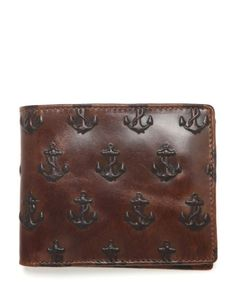 Jack Spade | Men's Wallets - Embossed Anchor Embossed Intl Billholder