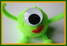 Monster Crafts for Kids - Make your own Mini Mike Wazowski!
