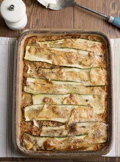 Zucchini, tomato, and brie gratin