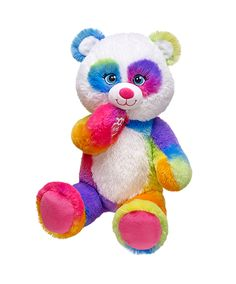 16 in. Pop of Color Panda | Build-A-Bear Workshop- $20 Caitlyn's Valentines day gift from mommy :) Colorful Panda from build a bear i can't wait!