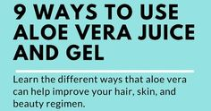 Aloe vera gel and juice has many benefits for hair and skin including growing long hair, moisturizing skin, and just being a tasty drink!  ...