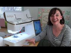 """Using different feet to get an accurate 1/4"""" seam allowance on the Baby Lock Destiny 2 sewing machine. Using a scant 1/4"""", piecing Half-Square Triangles. Sewing Lessons, Sewing Hacks, Sewing Tips, Babylock Embroidery Machine, Destiny Ii, Brother Dream Machine, Baby Lock Sewing Machine, Couture, Sewing Techniques"""