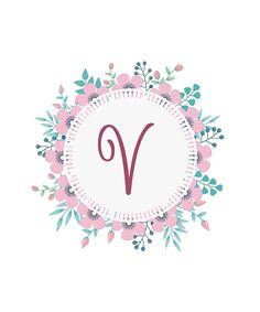 'Monogram N Pretty Pastel Pink Flowers' Sticker by floralmonogram Monogram Wallpaper, Alphabet Wallpaper, Laptop Wallpaper, Screen Wallpaper, Pastel Flowers, Pastel Pink, Monogram Design, Pretty Wallpapers, Phone Wallpapers