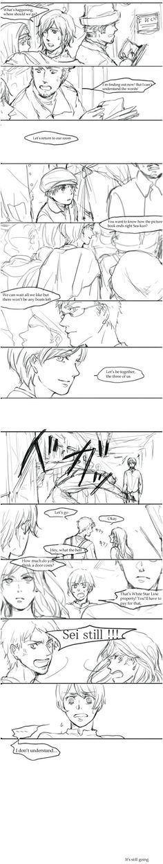 Hetalia Titanic Part 7/18  Who would do this?! To put all of my favorite Hetalia characters on a skinking ship where every one is going to die and expect me not to cry about it. To make it all worse I was listening to My Heart Will Go On by Celine Dion when I first found this comic! I can't handle all of the feels!!