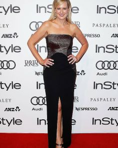 "Melissa Doyle arrives at the Instyle and Audi ""Women of Style"" Awards.#fashion #redcarpet #instyle #audi #womenofstyle #smh #lifeand style #sydney  #melissadoyle #dress"